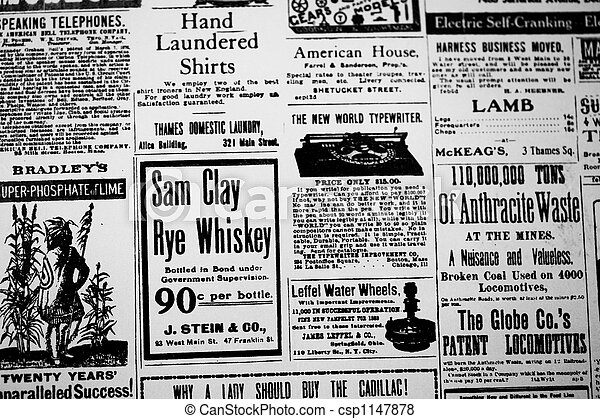 Old News Papier Photo Of Newspaper Advertisement Pictures