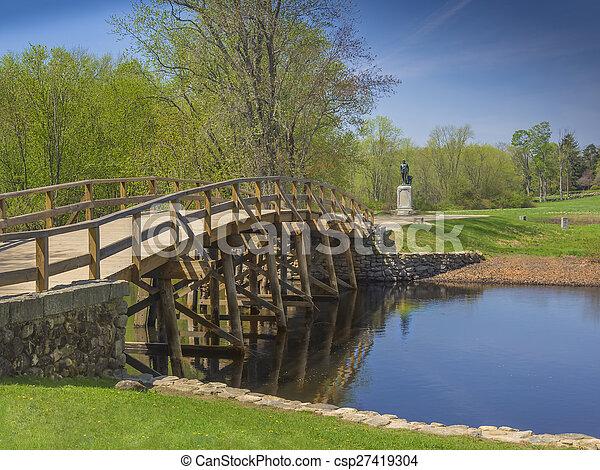 Old north bridge, Concord, MA. USA - csp27419304