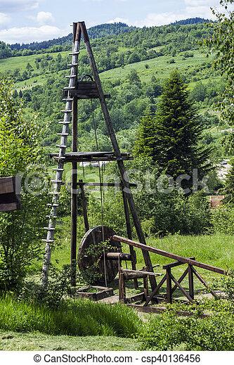 old oil derrick - csp40136456