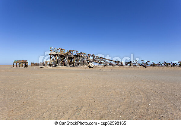 old oil drill rig in Namibia - csp62598165
