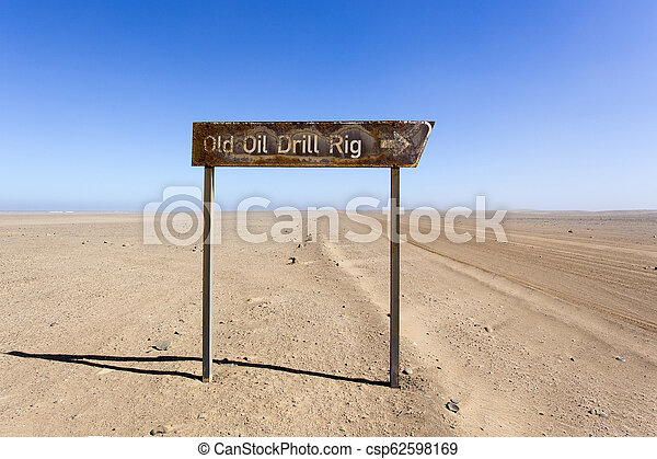 old oil drill rig in Namibia - csp62598169