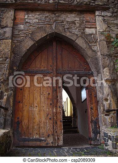 Old Open Door Old Door Detail Open Door