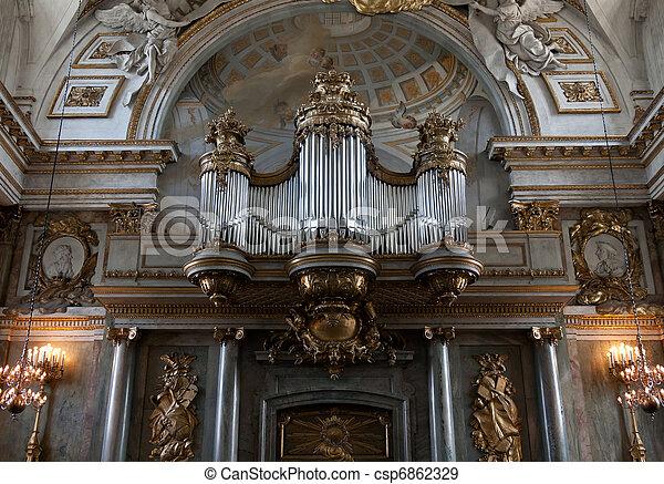 Old organ in the church - csp6862329
