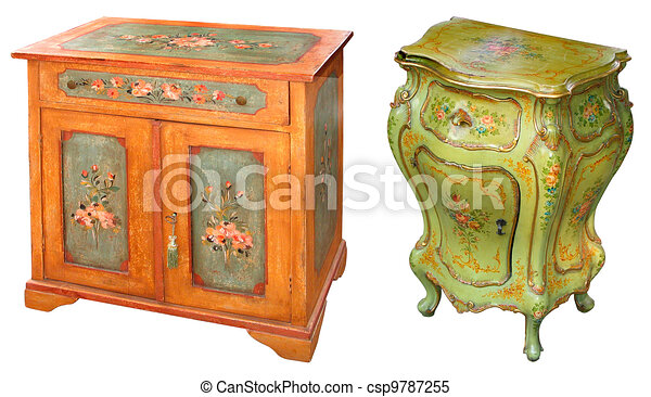 Old Painted Cabinets   Csp9787255
