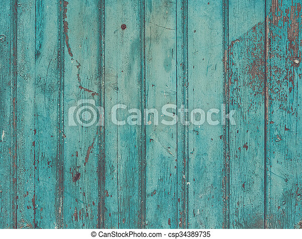 Old Painted Cracky Blue Turquoise Wooden Texture Vintage Rustic