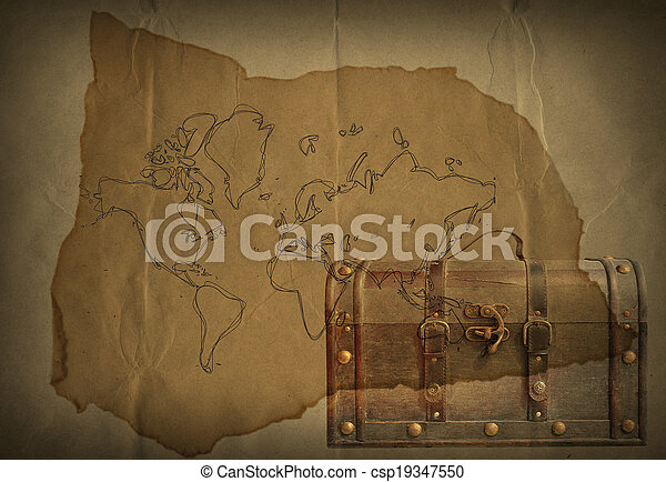 Old paper and grunge world map with leather luggage stock images old paper and grunge world map with leather luggage csp19347550 gumiabroncs Gallery