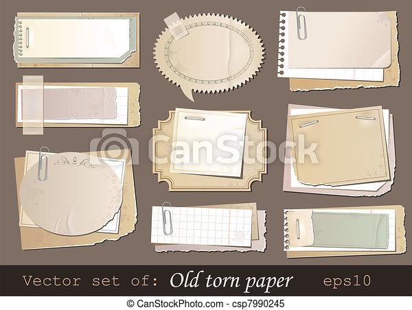 Old paper - csp7990245