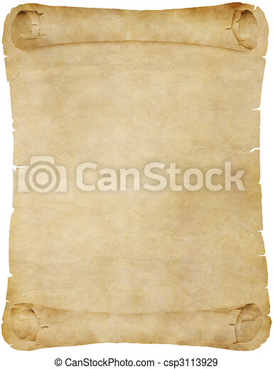 old paper or parchment scroll - csp3113929