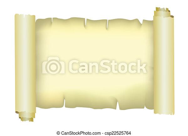 Old paper parchment, vector - csp22525764