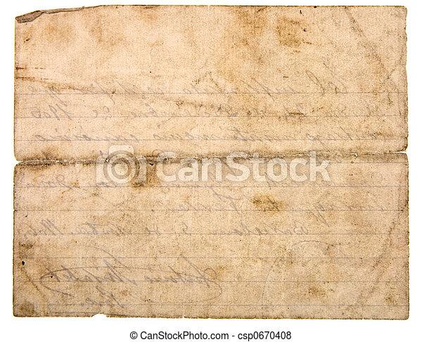Old paper - csp0670408