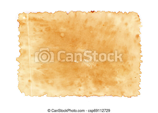 old paper sheet on for background texture - csp69112729