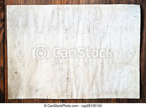 old paper - csp28105134