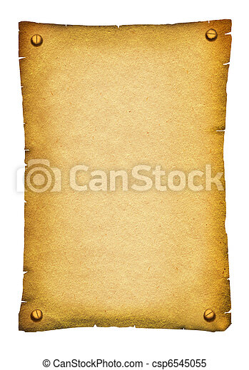 Old paper texture.Antique background scroll for text on white - csp6545055