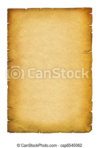 Old paper texture.Antique background scroll for text on white - csp6545062