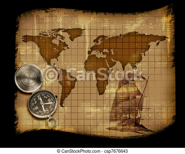 Image of an old paper world map drawings search clipart old paper world map stock illustration gumiabroncs Gallery
