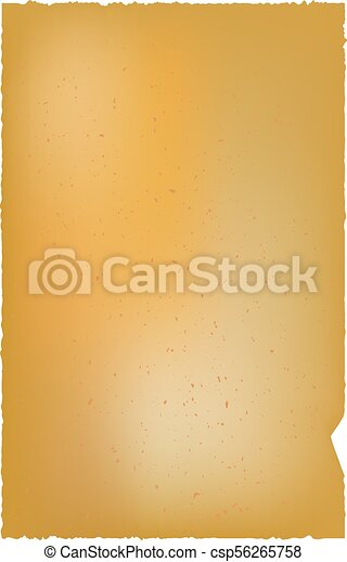 Old parchment isolated on white background. - csp56265758