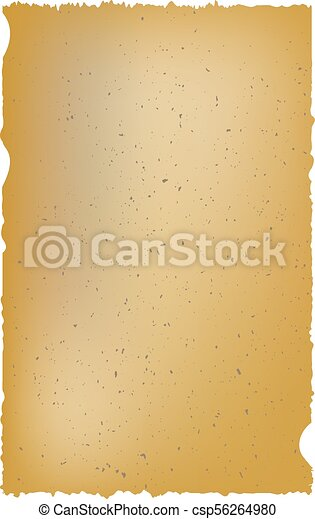 Old parchment isolated on white background. - csp56264980