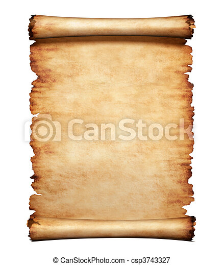 Old Parchment Paper Letter Background - csp3743327