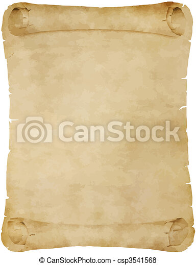 old parchment scroll - csp3541568