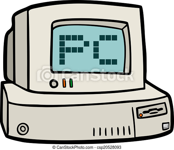 creative design of old pc eps vectors search clip art rh canstockphoto com pc clipart black pc clipart free