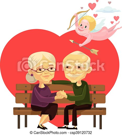 Old people couple characters - csp39120732