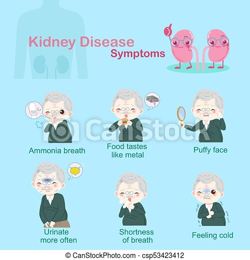 old people with kindey disease - csp53423412