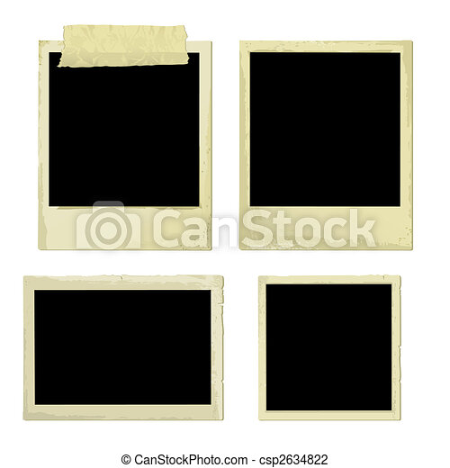 Old Photo Frames (vector) - csp2634822