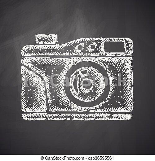 old photocamera icon - csp36595561