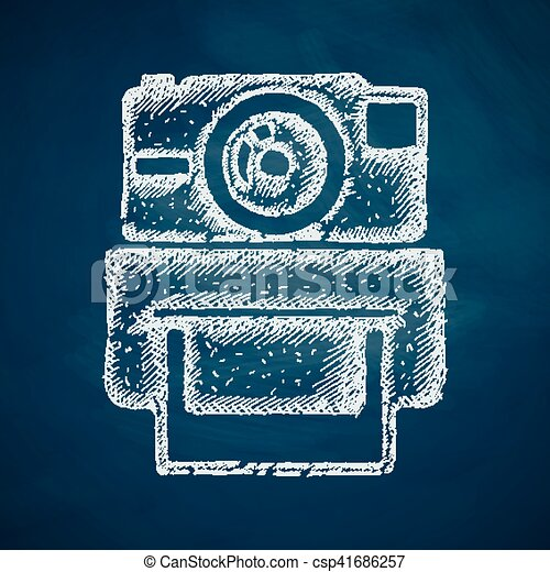 old photocamera icon - csp41686257