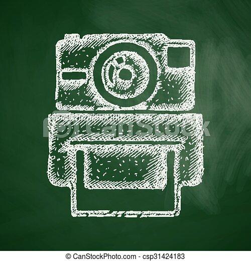 old photocamera icon - csp31424183