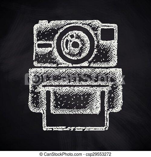 old photocamera icon - csp29553272