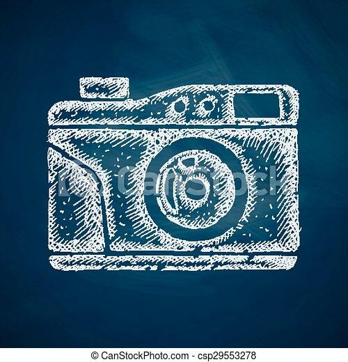 old photocamera icon - csp29553278
