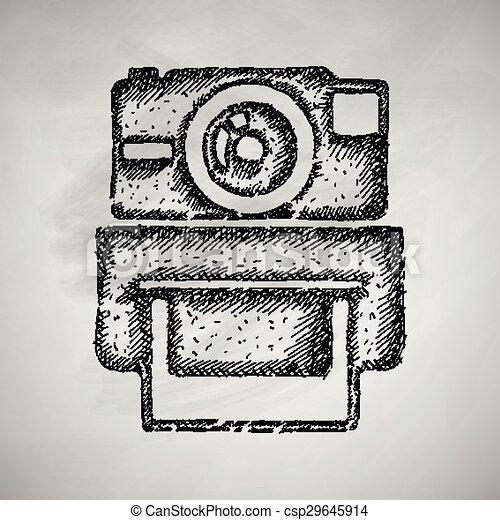 old photocamera icon - csp29645914