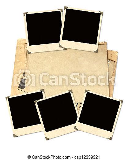 Old photos for scrapbooking - csp12339321