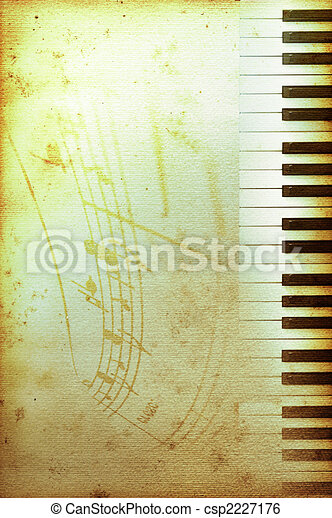 old piano paper - csp2227176