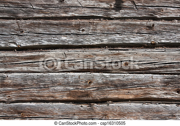 Old pine wood background - csp16310505