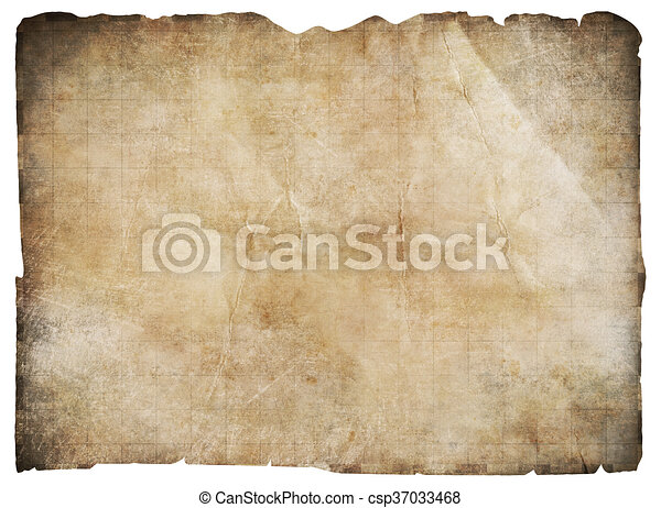 old pirates' treasure map isolated - csp37033468