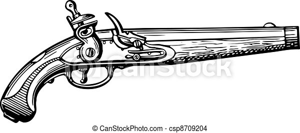 Old Fashioned Rifle Drawing