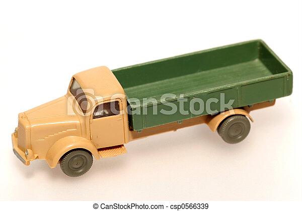 Old plastic truck - csp0566339