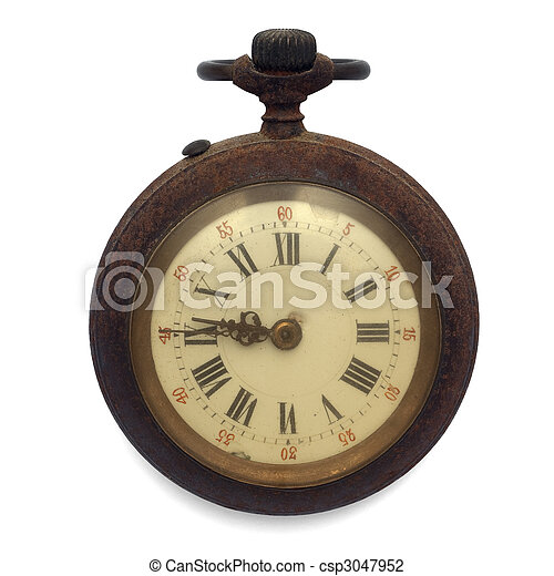 old pocket watch (isolated with clipping path) - csp3047952