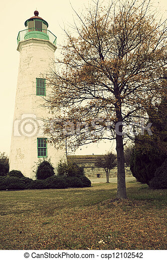 Old Point Comfort Lighthouse - csp12102542