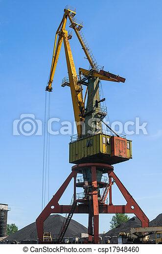Old port crane - csp17948460