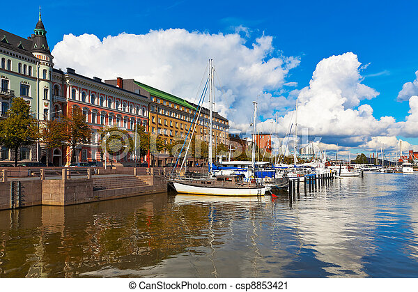Old port in Helsinki, Finland - csp8853421