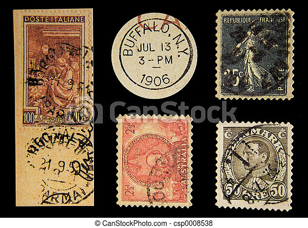 Old Postage - csp0008538