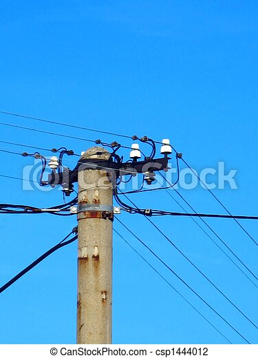 Old  power pole - csp1444012