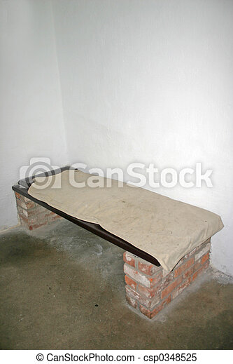 Old Prison Cell Bed at Stirling Castle in Scotland - csp0348525