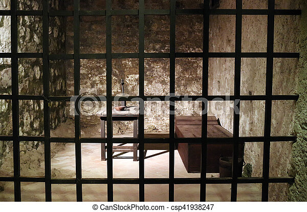 Old prison cell - csp41938247