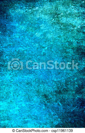 Old ragged wall: Abstract textured background with blue patterns. For art texture, grunge design, and vintage paper / border frame - csp11961139