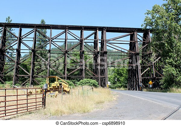 Old Railroad Wooden Truss