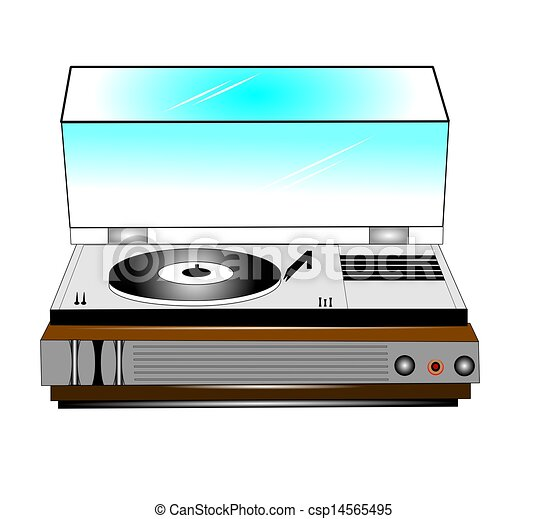 old record player  - csp14565495